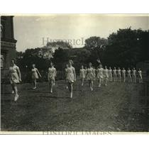 1923 Press Photo The Bukh troupe from Denmark demonstrate exercises in D.C>