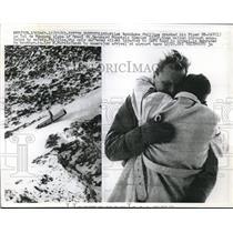 1962 Press Photo Sitten, Switzerland Pilot R Phillipe plane crash in mts