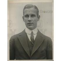 1922 Press Photo Carl Christiensson, track champion