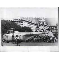 1963 Press Photo Buenos Aires Argentina Helicopter