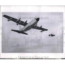 1958 Press Photo C-130 Hercules plane with missle launchers