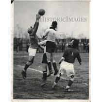 1932 Press Photo Shamrock Eleven of Cleveland Versus Santo Christo Club, Soccer