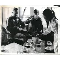 1973 Press Photo Lt. Col. Arne Ellermets, Lt. Terrmy R. Silvester Crewman Ferry