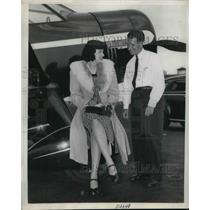 1939 Press Photo Newark Ner Jersey Willo Sherman Miss Michigan Aviation Pilot