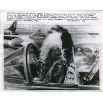 1961 Press Photo A Masai Tribal Warrior Sporting Feathered Headdress