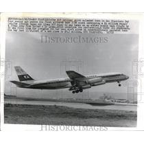 1969 Press Photo DC8 Jetliner Passes Flight Test After $4 Million In Repairs