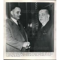 1951 Press Photo N. Leon Jouhaux of France, Winner of Nobel Peace Prize