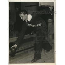 1930 Press Photo Sam Del Vecchio, 240 pins in bowling at age 16