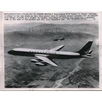 1962 Press Photo SC-8 Panair Do Brasil Jetliner Over Rio De Janeiro Brazil