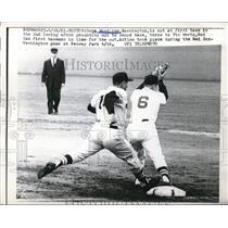 1961 Press Photo Gene Woodling, Washington, Vic Wertz, Boston Red Sox