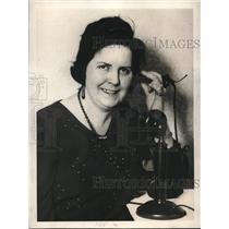 1923 Press Photo Luscille Nornan Telephone Operator at Frisco Hotel