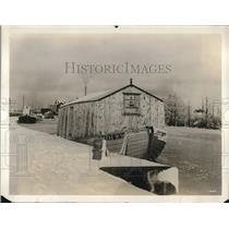 1928 Press Photo Floating Garages for Autos in Sweden