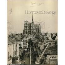 1918 Press Photo Panoramic view of the great British railroad center Amiens