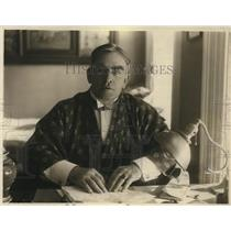 1918 Press Photo Cleveland Moffett, American Journalist, Author and Playwright