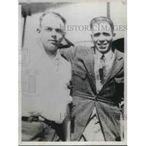 1929 Press Photo Thomas Gurley with Neighbor Robert Jefferson Before Fatal Fire