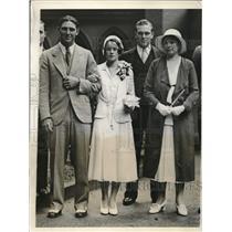 1931 Press Photo Ben and Mrs. Chapman at Wedding