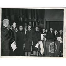 1948 Press Photo Zimmerman, Ronald Meyers, William Wilks Hamilton, Fred Zerull