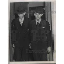 1938 Press Photo Otto Hermann Voss and Erich Glaser in the Nazi Spy Trial