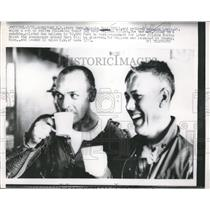 1958 Press Photo These pilots rode a balloon up to 82K ft. to test future space