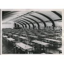 1944 Press Photo Huge cafeteria in Seattle Boeing plant