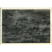 1930 Press Photo Planes Line Up At Army Attack Drill At Camp Stanley In Texas