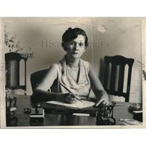 1930 Press Photo Delia Robbes De Andreve wife Panaman Minister/Cuba 1st women to