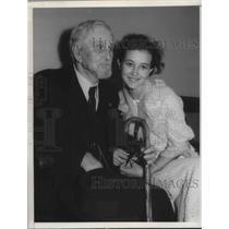 1935 Press Photo Civil War vet Josiah Lamborn & granddaughter Virginia Pfiester