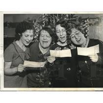 1931 Press Photo Anny Lev, Mary F. Barker, Frances Brady and Nellie Plate