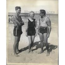 1934 Press Photo Miss Helen Blachy, Frank Gardner and George Murphy.