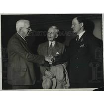 1931 Press Photo William May Garland, George Graves and Avery Brundage.