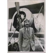 1935 Press Photo Mexican Minister to Japan Miquel Alonzo-Romero Flies Over Tokyo