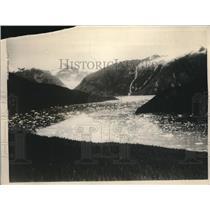 1926 Press Photo Alaska Le Conte bay