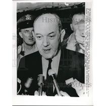 1963 Press Photo Secretary Of State Dean Rusk Talks To Press About Vietnam War