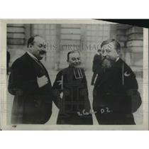 1920 Press Photo German official Abbe Wetterle at French election with Lafarge