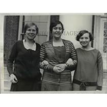1929 Press Photo Radcliffe College Girls Phi Beta Cappa Elizabeth Gerould