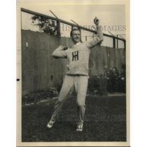 1922 Press Photo Leon DeTurenne, Harvard Tennis, National Doubles Tourn., Boston