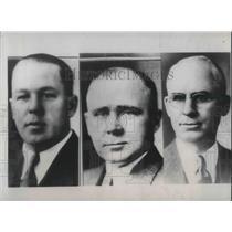 1934 Press Photo Nebraska Politicians Dwight Griswold Rob Simmons & Roy Cochran
