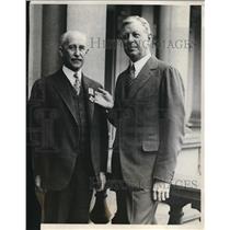 1929 Press Photo Orville Wright, Dwight Davis