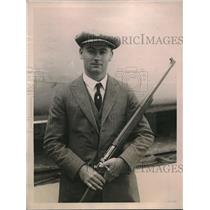 1922 Press Photo Walter R. Stokes Sails For International Rifle Meet Milan Italy