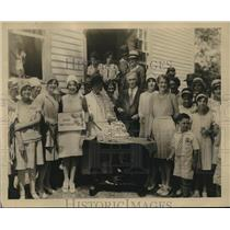 1929 Press Photo Paty Wingfield, 76, oldest Church Member, Hannover County