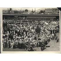 1926 Press Photo S.P. Station in Loa Angeles huge crowd of onlookers - nec32796