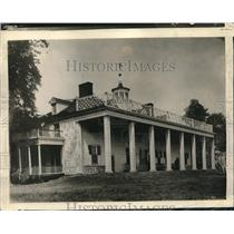 1928 Press Photo Mount Vernon Home Of George Washington