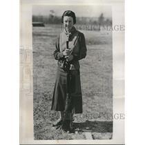1934 Press Photo Only Woman Entrant Mrs CT Jackson , Pinehurst