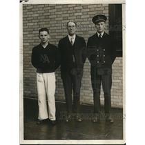 1930 Press Photo Coxswain H. Rivera, Richard Glendon and K.L. Nutting