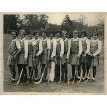 1928 Press Photo All American Girls Hockey Team Met English Team - nec32963