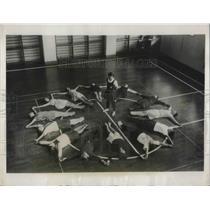 1931 Press Photo Mrs. Wilcox, gymnatics expert of US at YWCA in Kanda Toyko
