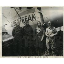 1931 Press Photo Plane Blue Streak, crew RJ Gormely,LS Rice,SJ Short,R Beck