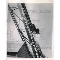 1949 Press Photo Plane Ejection Seat Test