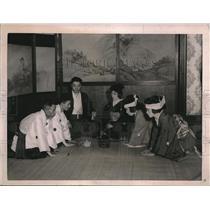 1921 Press Photo Wedding  at Prof Hideo Kimura home & MR & Mrs Ichino Noda