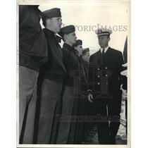 1943 Press Photo Moraga Ca 15 new officers at US Navy pre-flight school
